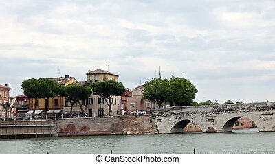 Tiberius bridge Rimini landmark