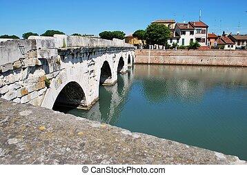 tiberius', bridzs, rimini, olaszország