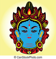 Tibet Buddha. - Tibet blue tara Buddha.