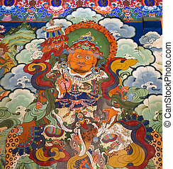 Tibet - Buddhist Art - Drepung Monastery - Buddhist art on...