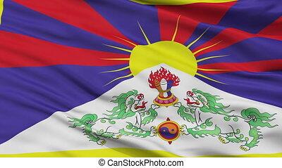 Tibet Flag Closeup Seamless Loop - Tibet Flag, Closeup View...