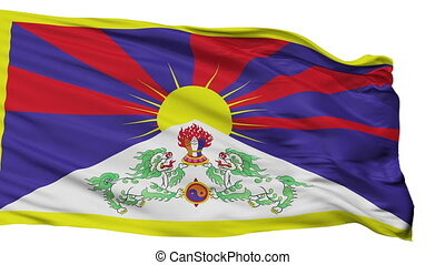 Tibet Flag Isolated Seamless Loop - Tibet Flag, Isolated...