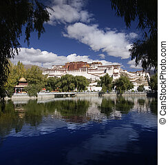 The Potala Palace in the city of Lhasa in the Tibet Autonomous Region of China.