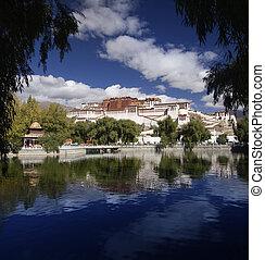 Tibet - Potala Palace - Lhasa - The Potala Palace in the...