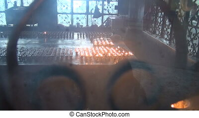 Tibetan buddhist candles flame