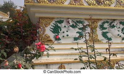 Tibetan buddhist stupa ornaments