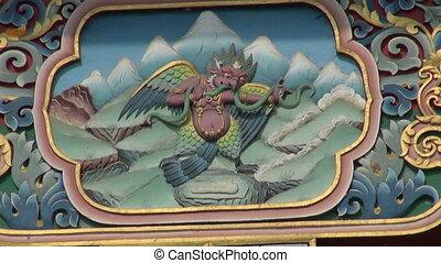 Tibetan buddhist temple decoration