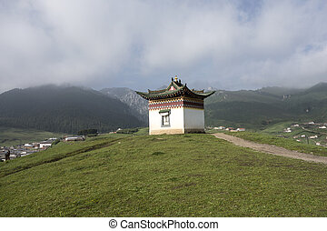 Tibetan building & Tibetan tent house in sichuan china stock photos - Search ...