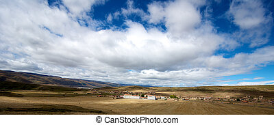 Tibetan Country side village in the Gansu province China