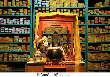 Tibetan Library a historic place in Mcleod Ganj, Northern India