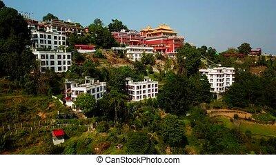 Tibetan Monks near Monastery, Kathmandu valley, Nepal - ...