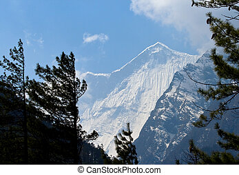 Tibetan mountains, Nepal, Annapurna trek.