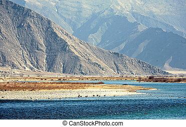 Tibetan plateau scenery,