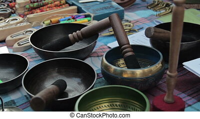 Tibetan singing bowls, full HD