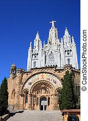 Tibidabo temple (Barcelona, Spain)