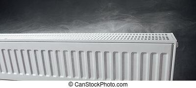 tibio, calefacción, radiador, vapor