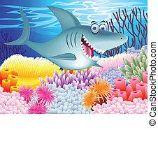tiburón, caricatura