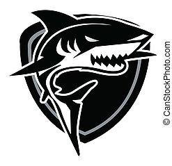 tiburón, océano