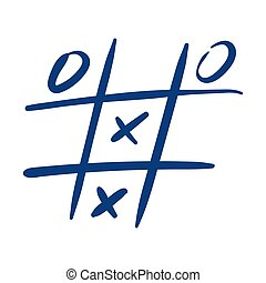 tic tac toe game free form style icon vector illustration design