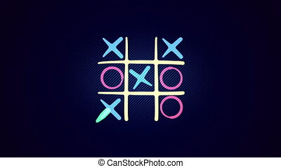 """""""Tic-tac toe game in the black backdrop"""" - """"Funny 3d..."""