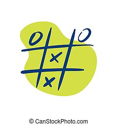 tic tac toe game line style icon vector illustration design