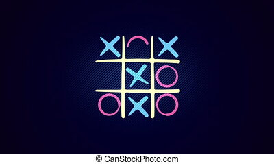 """""""Tic-tac toe match in the blue background"""" - """"Cheery 3d..."""