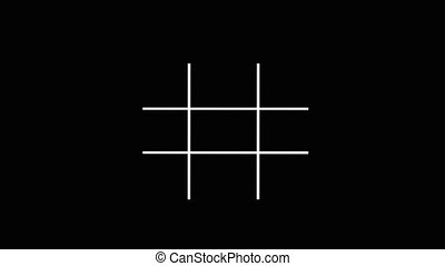 Tic-tac-toe, noughts and crosses or Xs and Os, is a game for...