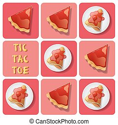 Tic-Tac-Toe of crepe and tart