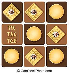 Tic-Tac-Toe of macaron and waffle