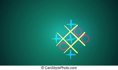 """Tic-tac toe play in the green backdrop"" - ""Kiddy 3d..."