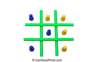 Tic Tac Toe - Photo of a Tic Tac Toe game in progress. The...