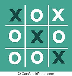 tic tac toe XO game , tic, tac, toe, x, game, o