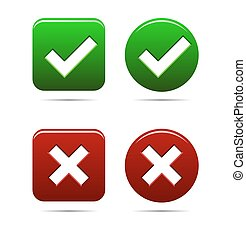 yes no buttons green an red
