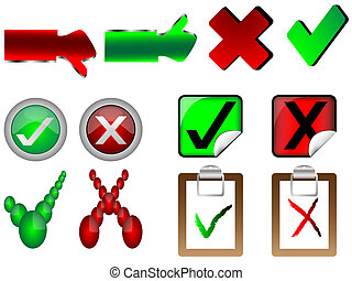 tick and cross right and wrong