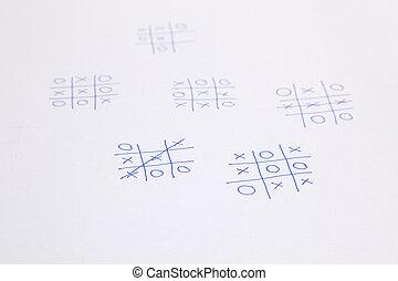 (tick, croix, clouer, zéros, jeux, toe)