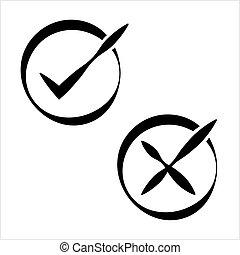 Tick Cross Mark Icon