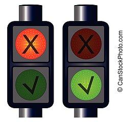 Tick Cross Traffic Lights