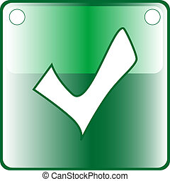 TICK green Button Web icon