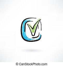 tick grunge icon