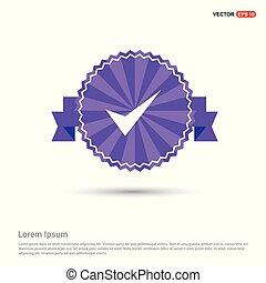 Tick icon - Purple Ribbon banner