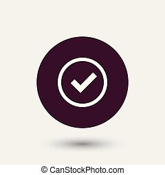 Tick icon simple illustration - Tick icon simple accept sign...