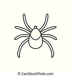 tick lyme insect icon- vector illustration