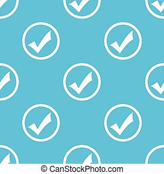 Tick mark sign blue pattern - Image of tick mark in circle, ...