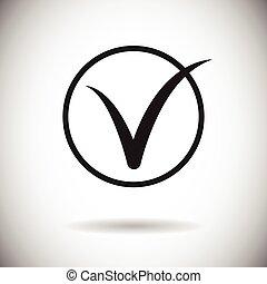Tick Sign Icon Check List Button