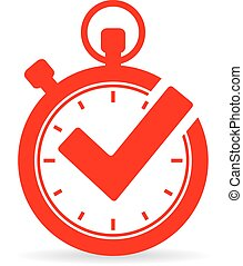 Tick timer vector icon