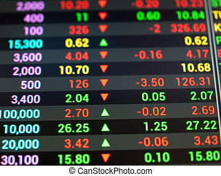 ticker, marché, stockage