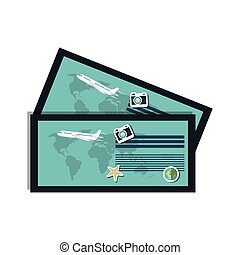 ticket airplane boarding pass