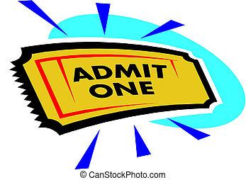 ticket, bioscoop