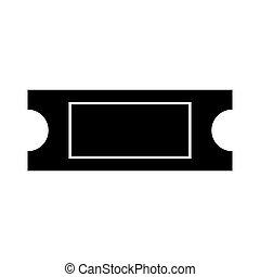 Ticket black color icon . - Ticket black it is black color...