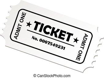 Ticket cinema concert theatre vector eps 10